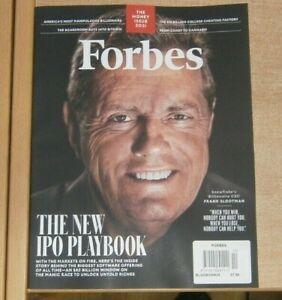 Forbes magazine Special Money issue BlockChain 2021 Snowflake's Frank Slootman