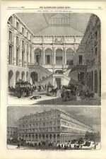 1855 Interior Of Court Hotel Du Louvre External Sketch
