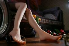 LIfelike Silicone Female Mannequin Leg Foot Model Shoes Display Prop 1pair