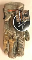 Realtree Xtra Fleece Hunting Gloves Tree Green Camouflage Black Grip Gift