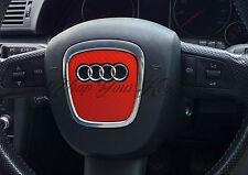 Rouge fibre de carbone airbag volant wrap s rs A1 A3 A4 A5 A6 A8 tt Q3 Q5 Q7