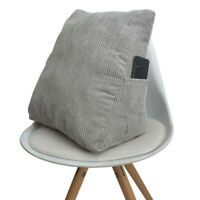 Triangle Bed Backrest Wedge Cushion Sofa Couch Reading Pillow 40x40cm Gray