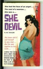 SHE DEVIL by Taylor, rare US Beacon Signal #B503F sleaze gga pulp vintage pb
