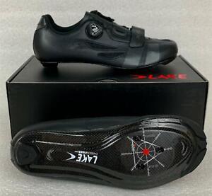 LAKE CX218 Black / Grey ROAD CYCLING SHOES NEW