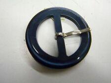 mercerie boucle ceinture confection robe  neuf bleu nuit marine 4.5cm lot 206