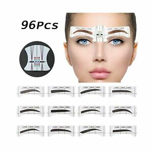 EBANKU 96Pcs Eyebrow Stencil, 48 Pairs Eyebrows Shape Stickers Shaping Templa...