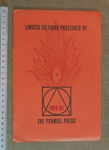 Limited editions published by the Penmiel Press 1978-88 - Edward Burrett