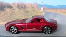 MERCEDES BENZ SLS 1:59 (Dark Red) Majorette MIP Passenger Diecast Sports Car
