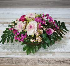 Artificial Flowers - Stunning Centrepiece Purple - Arrangement on Basket
