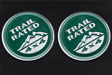 2x Trail Rated 4*4 3D Emblem auto aufkleber Badge Sticker jeep Grün Trail Rated