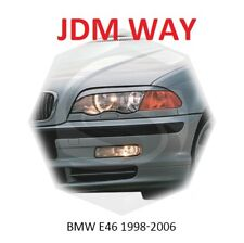 BMW 3 Coupe E46 Eyebrows Eyelids Eyeline Headlight Cover 1998-2006 Set Unpainted