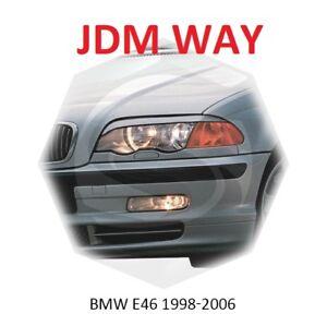 BMW 3 Coupe E46 Eyebrows Eyelids Eyeline Headlight Cover 1998-2006 Set Unpainted