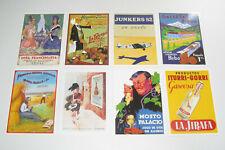 Lot de 8 Carte Postale Reproduction Affiche Publicitaire Ancienne Pub i