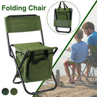 Folding Camping Chair Fishing Stool Outdoor Cooler Insulated Picnic Travel Bag ❤