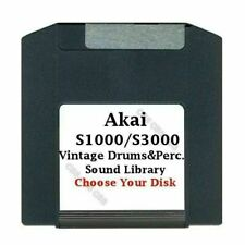 Akai S1000 / S3000 100MB Zip Disk Vintage Drums & Perc. Library Choose Your Disk