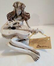 DINO BENCINI 640 GUITARIST (FEMALE)  FIGURINE SCULPTURE. ITALY. SIGNED.