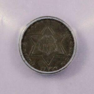 1855-P 1855 3cs Silver Three Cent Piece ICG AU50 Details BR#2920 RPD