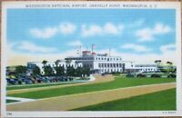 Washington, DC National Airport 1940s Linen Aviation Postcard - Gravelly Point