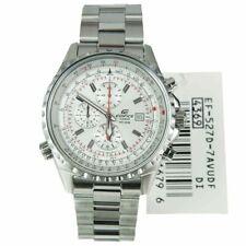 Super Rare Casio Edifice EF-527D-7AVDF White Dial Quartz WR 100m Men's Watch