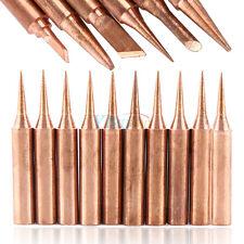 6/10Pcs Copper Solder Tips Bits Welding Head Lead Free for Soldering Station Set