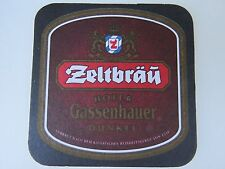 Beer Coaster Sous Bock: Zeltbräu Hofer Gassenhauer Dunkel; Hof, Bavaria, Germany