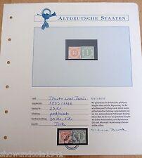 2 Briefmarken Nr. 25 und 51 mit Garantieurkunde