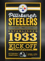 Pittsburgh Steelers Holzschild 43 cm NFL Football,Established Wood Sign