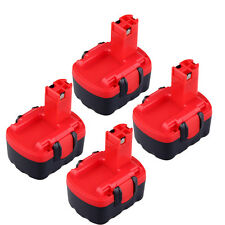 4X 4.4V 3000mAh NI-MH Rechargeable Battery for Bosch 2 607 335 275 BAT038 BAT040