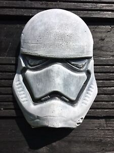 Stormtrooper Style Wall Mask Art Hanging Face Plaque Star Wars Fan Art Ornament
