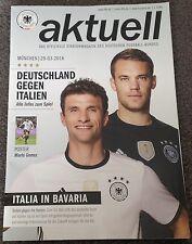 DFB Deutscher Fußball-Bund Magazin Stadionheft Deutschland-Italien 29.03.2016