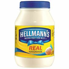 Hellmann's Real Mayonnaise 30 oz NEW FREE SHIPPING
