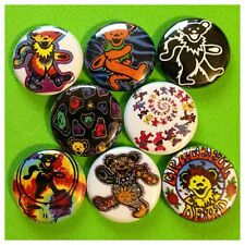 "GRATEFUL DEAD BEARS 1"" buttons badges JERRY GARCIA DEADHEAD"