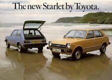 Toyota Starlet 1978-1980 UK Market Sales Brochure 1.0 GL 3-dr 5-dr