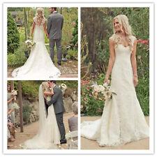 2017 Lace Mermaid Wedding Dress Formal Bridal Gown Western Country Weddings