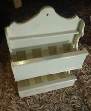 SHELF WALL or TABLE chic shabby vintage cottage hand made white good for YoYo