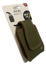 Nite Ize Fits All OD Green XL Vertical Cell Phone Holster Case Rugged Belt Clip