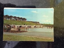 a2m postcard used 1969 mablethorpe paddling pools chalets
