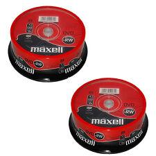 50 Maxell DISCO DVD-RW (2x) 4.7GB 120Min (2x25 SPINDLE) 275893 DVD RISCRIVIBILI