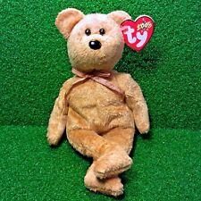 Ty Beanie Baby Cashew The Teddy Bear 2000 Retired Plush Toy MWMT - Free Shipping