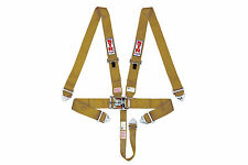 STR 5 Point Racing Safety Harness Seat Belt Nascar Buckle SFI F2 F1 GOLD