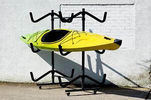 Freestanding 2, 3, 4, 5, 6 Sit on top kayak storage rack, SUP, Surf Board, Ski