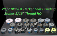 "20 x VALVE SEAT GRINDING WHEELS BLACK & DECKER GENERAL PURPOSE 9/16"" x 16 TPI"