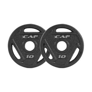 """10 lb CAP Barbell Olympic 2"""" Hole Iron GRIP Plates Pair Set of 2 20lbs Total"""