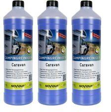 3x Novadur Konzentrat Wohnwagenreiniger Wohnmobilreiniger Caravanreiniger 1L