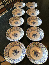 "Johnson Brothers Rose Bouquet BLUE Fruit / Cereal Bowls 5"" Diameter 1 available"