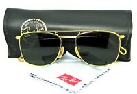 Ray-Ban USA NOS Vintage B&L Mod Aviator Caravan W1698 Pin-Etched New Sunglasses