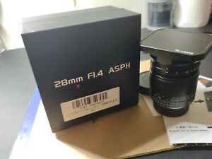 Mint 7artisans 28mm f1.4 Leica M mount, US Stock, with Hood