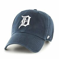 Detroit Tigers 47 Brand Clean Up Adjustable Field Classic Navy Blue Hat Cap MLB