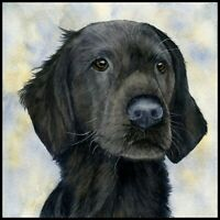 Flat Coated Retriever Pet PRINT from my own Original Watercolour Painting