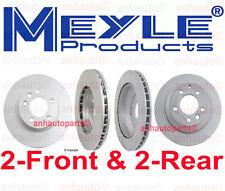 4-Meyle GEOMET®Anti Rust Coated 2-Front & 2-Rear Brake Rotors Audi Q7  Std Brk